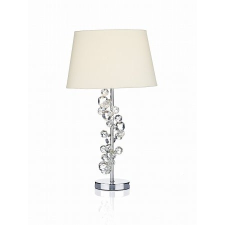 Dar Lighting - Dixie Table Lamp Polished Chrome complete with Shade