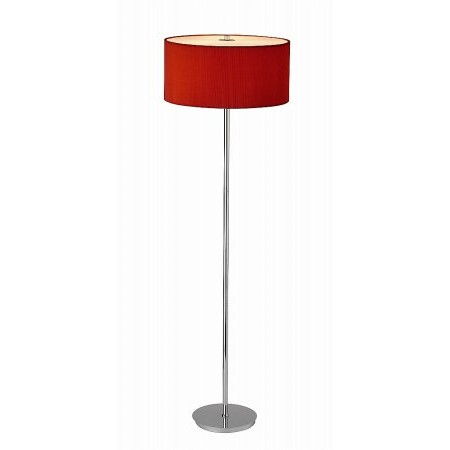Dar Lighting - Zaragoza Floor Lamp Red complete with ZAR1825