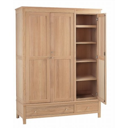 Corndell - Nimbus Triple Wardrobe with Drawers