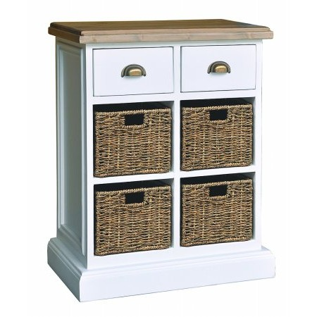 The Smith Collection - Lulworth 2 Drawers  plus 4 Baskets Modular Chest