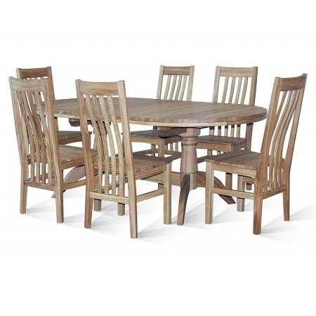 TCH - Windsor Double Pedestal Table  plus Chairs