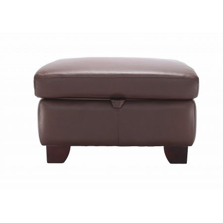 G Plan Upholstery - Gemma Leather Storage Footstool