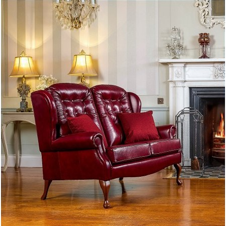 Sherborne - Lynton Fireside 2 Seater Leather Settee