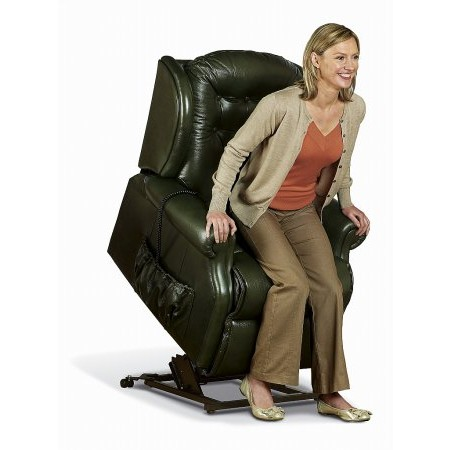 Sherborne - Lynton Small Lift  plus Rise Leather Recliner Chair