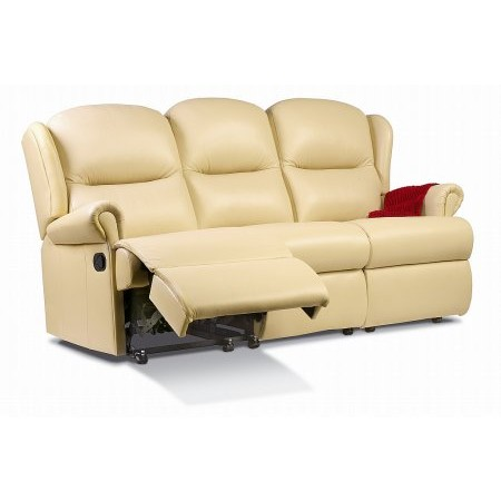 Sherborne - Malvern 3 Seater Leather Recliner Settee