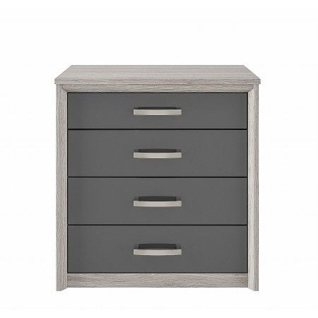 Kingstown - Cosmos 4 Drawer Chest Oak  plus Graphite
