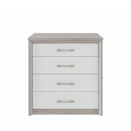 Kingstown - Cosmos 4 Drawer Chest Oak  plus White