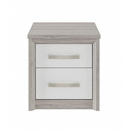 Kingstown - Cosmos 2 Drawer Chest Oak  plus White
