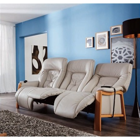 Cumuly - Themse 3 Seater Leather Recliner Sofa 4798