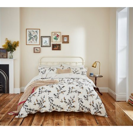 Joules - Mono Blossom Floral Bedding In Concrete