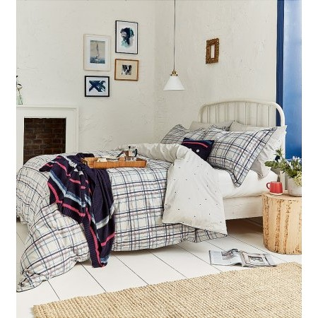 Joules - Neeson Marl Check Bedding In Grey