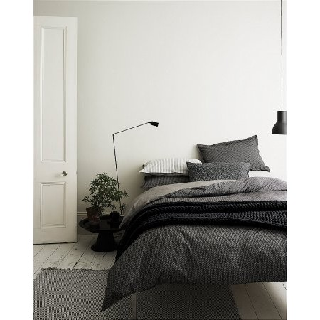 Murmur - Dansu Bedding In Charcoal