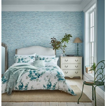 Sanderson - Delphiniums Bedding in Mint