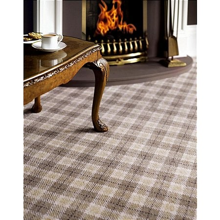 Adam Carpets - Marquette Plaid Lindenwood Beige MP01