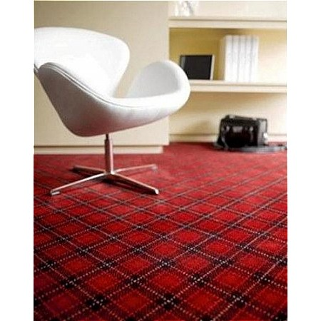 Adam Carpets - Marquette Plaid Stanford Cardinal MP12