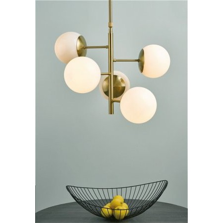 Dar Lighting - Bombazine 5lt Pendant