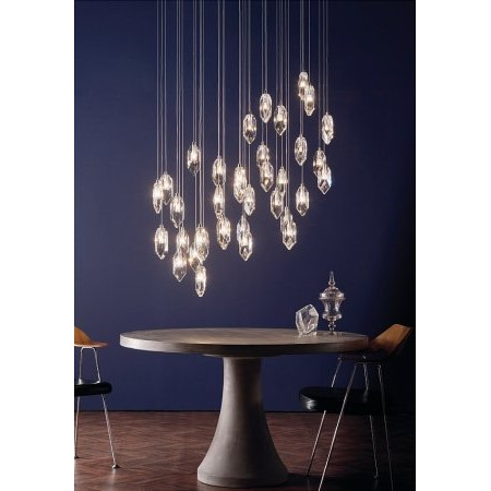Dar Lighting - Crystal Cluster Pendant