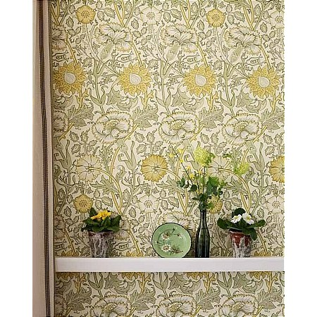 William Morris - Pink and Rose Wallpaper