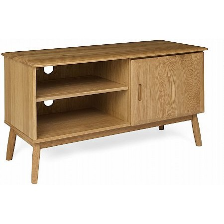 The Smith Collection - Malmo Oak 1 Door TV Cabinet