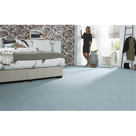 Kingsmead Carpets - Sto Velluto Lusso Duck Egg Carpet