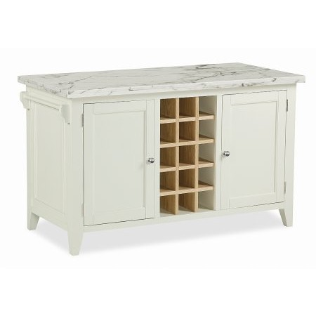 Corndell - Tetbury Kitchen Island with Marble Top